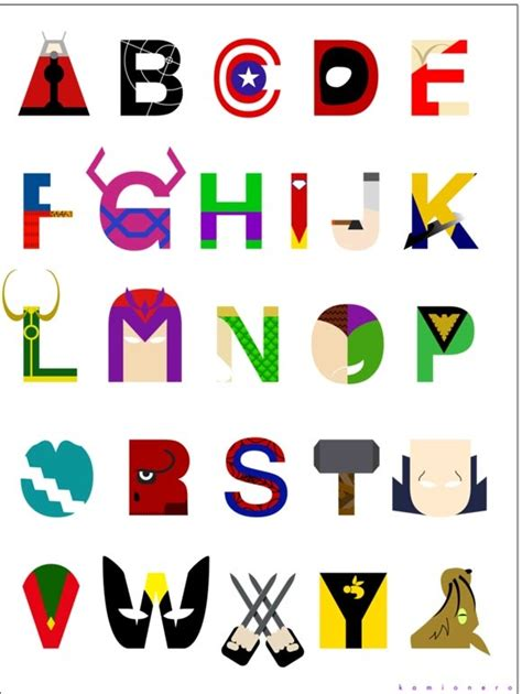 printable superhero font superhero alphabet fonts pinterest heroes superhero