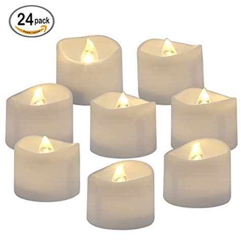 Homemory Battery Operated Led Tea Lights Pack Of Homemory Battery Operated Led Tea Lights Pack Of 24 Flameless Votive Tealights Candle With