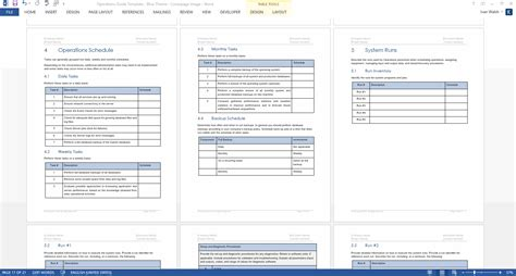 operations guide template ms wordexcel templates
