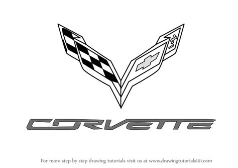 ferrari logo sketch learn how to draw corvette logo brand logos step by step