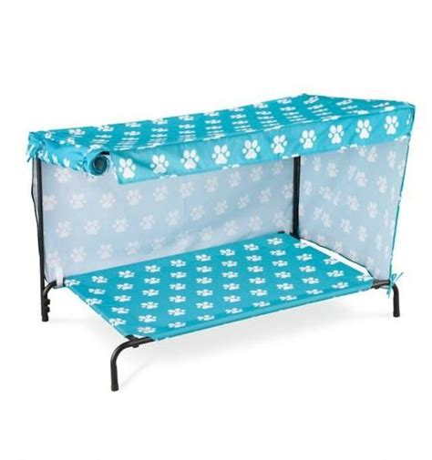 dog bed with canopy indoor outdoor dog bed with canopy sun shade 2 sizes 4