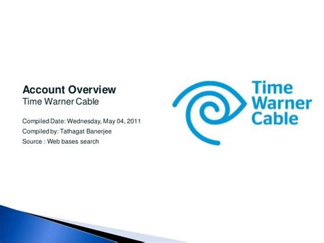 Time Warner Email Login Search Time Warner Cable Account Overview