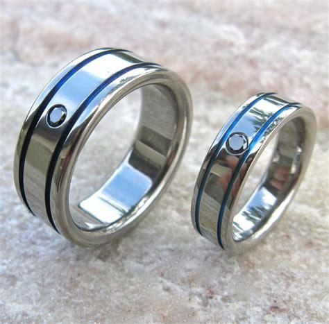matching black titanium band set stbd10 titanium