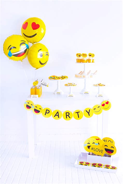 emoji party emoji party birthdays balloon time helium tank