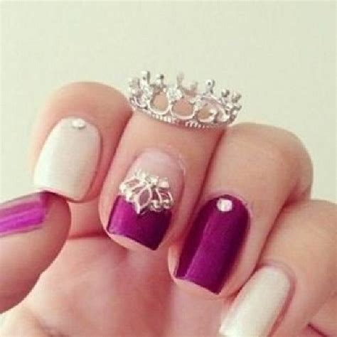 cute nail designs with a crown image 1977424 by maria d on favim com