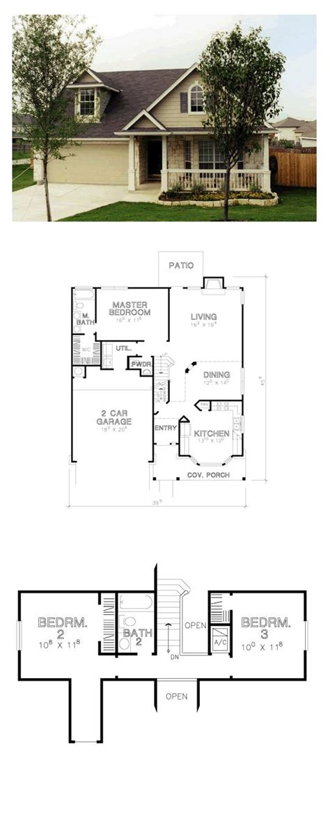 small house plans with garage attached 193 best images 391 best images about downsizing really cool floorplans