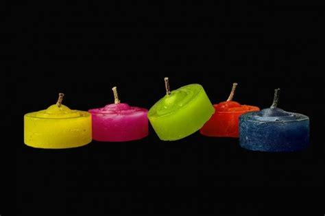 creare candele colorate candele natalizie segnaposto