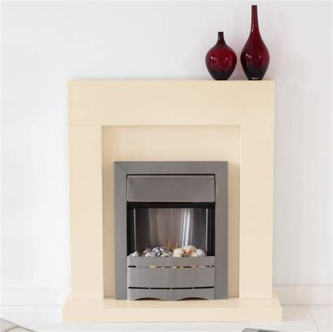 montreal ivory free standing fireplace ribbon brass