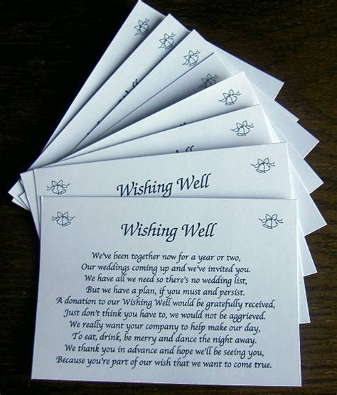 Wedding Invites Wording For Money   Invitation Ideas