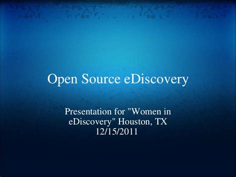 one discovery supports women in ediscovery as 2018 national sponsor open source e discovery