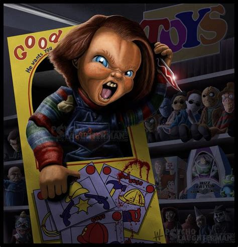 chucky film series movies chucky art from the child s play series of films horror
