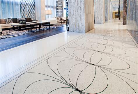 Epoxy Terrazzo Flooring by Pachyderm Marketing Portfolio The W Hotel Epoxy Terrazzo