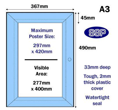 Poster Cabinet by Ssp Lockable Poster Cabinet A3 Anodised Silver