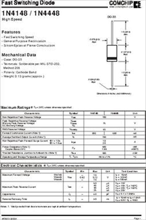 datasheet of zener diode 1n4148 1n4148 g datasheet specifications diode type standard voltage dc