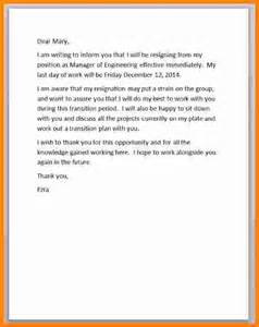 How To Right A Resignation Letter by 9 How To Write A Resignation Letter Sle Ledger Paper