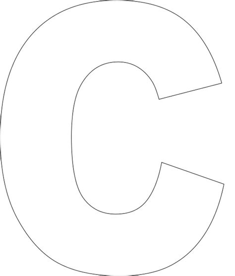 templates for alphabet best photos of large letter c template free printable