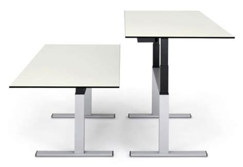 choice sitting standing work table by lista office lo