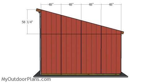 tractor lean  shed roof plans myoutdoorplans