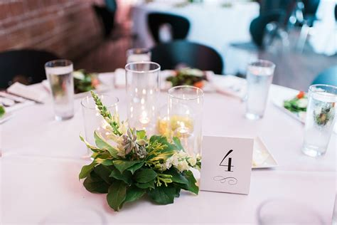 Candle Wedding Centerpieces With Greenery And Succulents Greenery For Wedding Centerpieces