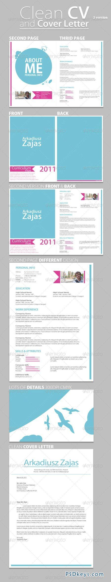 Cover Letter Torrent by Clean Cv Cover Letter 236478 187 Free Photoshop