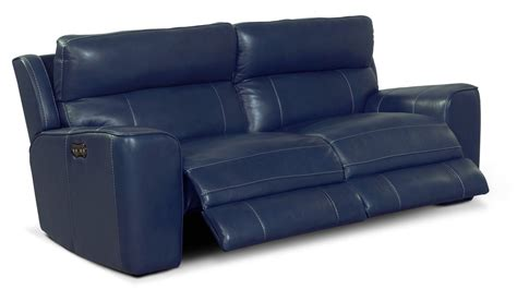 milano blue leather reclining sofa blue reclining sofa milano blue leather plus reclining