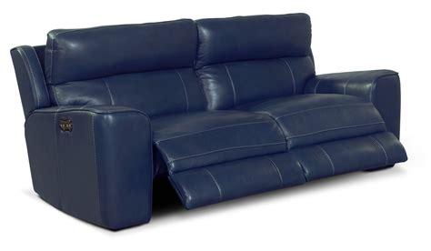 Newport 2 Piece Power Reclining Sofa Blue American Blue Reclining Sofa