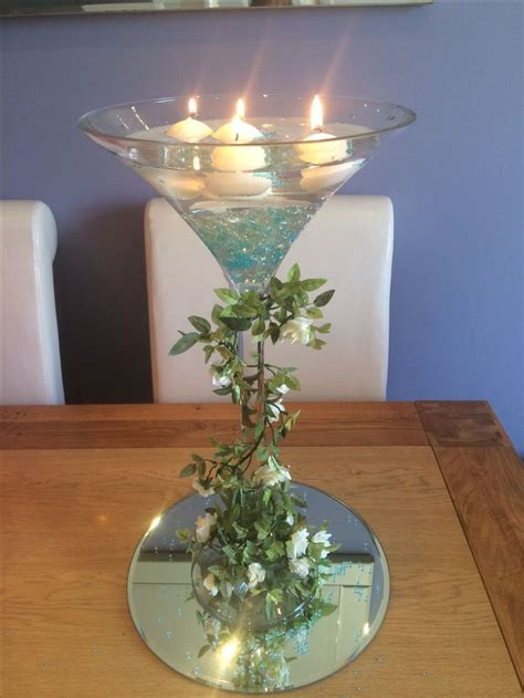 best 25 martini glass centerpiece ideas on