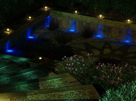 blue outdoor lights 40 ultimate garden lighting ideas