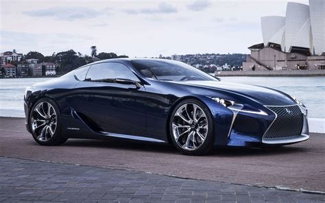 lexus lf lc white lexus exec hints lf lc concept is production bound