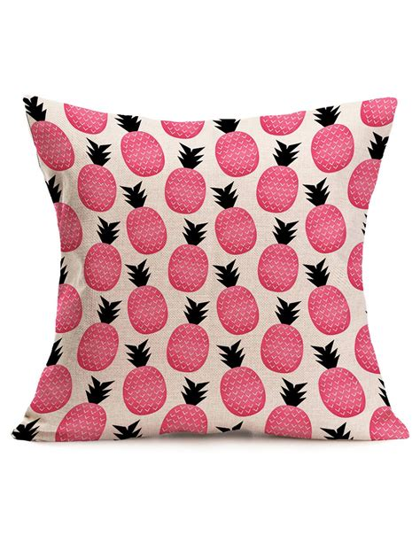 decorative pillows shams pink 43 43cm pineapple