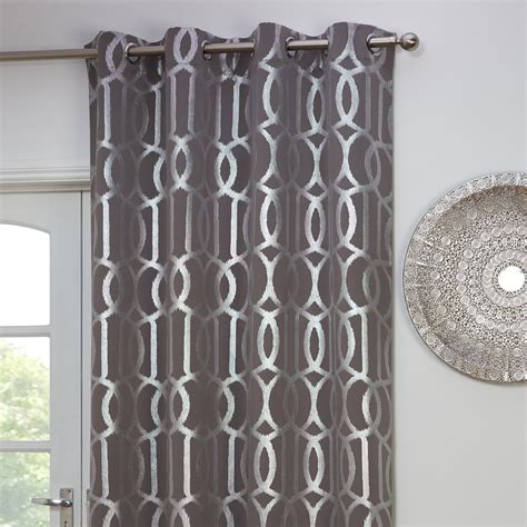 the range door curtains silver print thermal panel grey 140x240