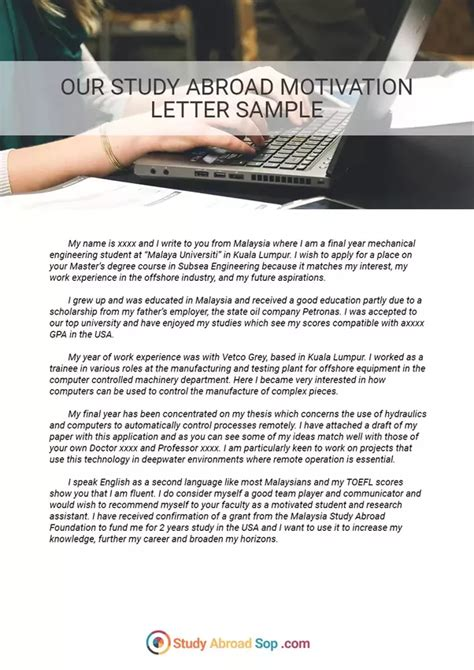 cover letter for study abroad how to write statement of purpose while applying for