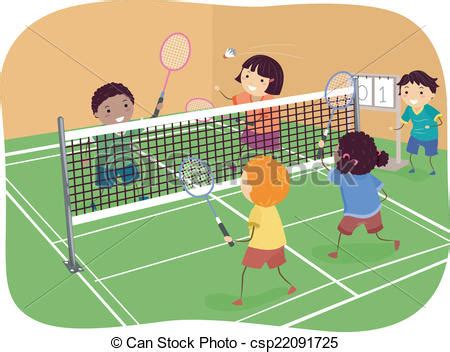 Plans For A Small Cabin by Vector Illustration Of Badminton Doubles Illustration