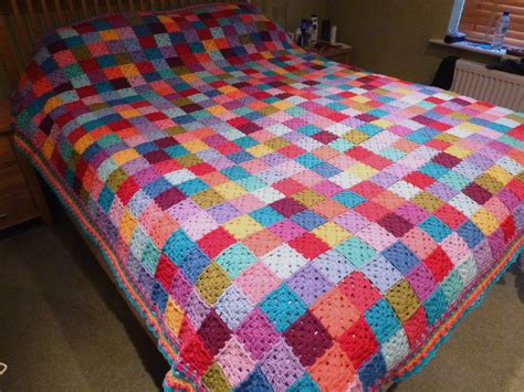 patchwork blanket thrifty mummyhen ta dah square patchwork blanket