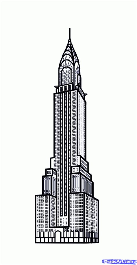 draw building empire state building drawing related keywords