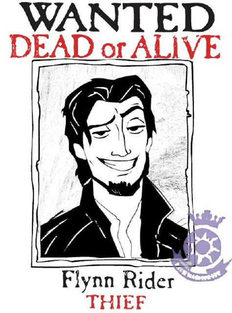 printable poster wanted dead or alive flynn rider thief poster print out
