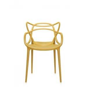 chaise masters kartell orange jaune design contemporaine