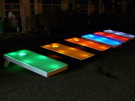light up corn board hole sets midnight corn hole urban circus events