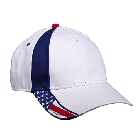 cotton usa american flag white baseball cap by dpc outdoor