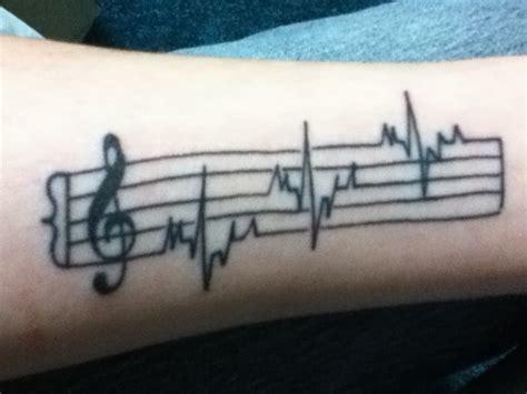 tattoo heartbeat music music staff on tumblr