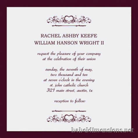 Wedding Invitation Layout Exles | top of wedding invitations exles theruntime com