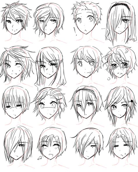 anime hairstyles to draw how to draw anime hairstyles for girls guy hairstyles by