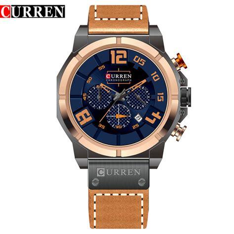 Curren Jam Tangan curren jam tangan analog pria 8287 golden blue