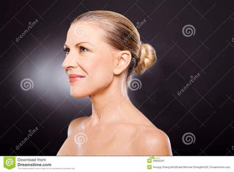 beautiful middle age black women mature woman side stock image image 29800041