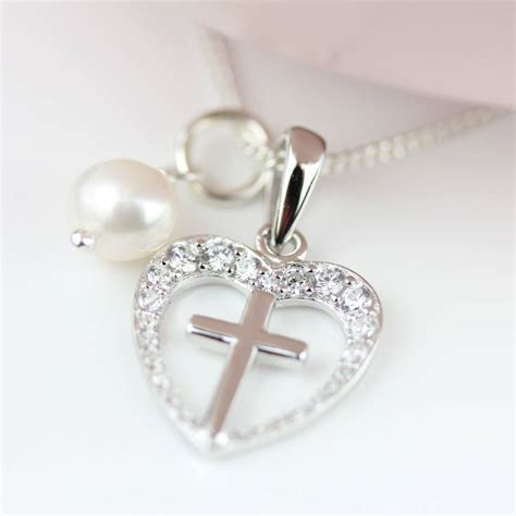 personalised child s silver christening cross pendant by