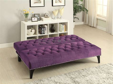 Coaster 500235 Purple Rain Velvet Sofa Bed Futon Purple Sofa Bed