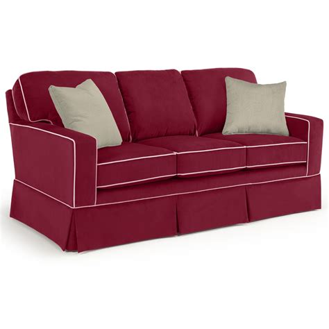 sofa with skirted base best home furnishings annabel customizable transitional