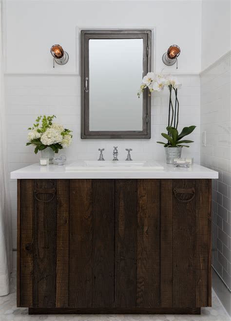 barn board bathroom vanity reclaimed barn board bathroom vanities refreshed designs