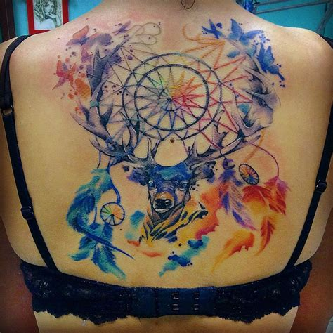 deer watercolor tattoo deer the dreamcatcher best ideas gallery