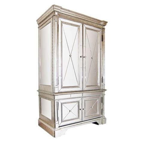 Mirrored Tv Armoire by Deco Armoire Reclaimed Pine Deco Furniture